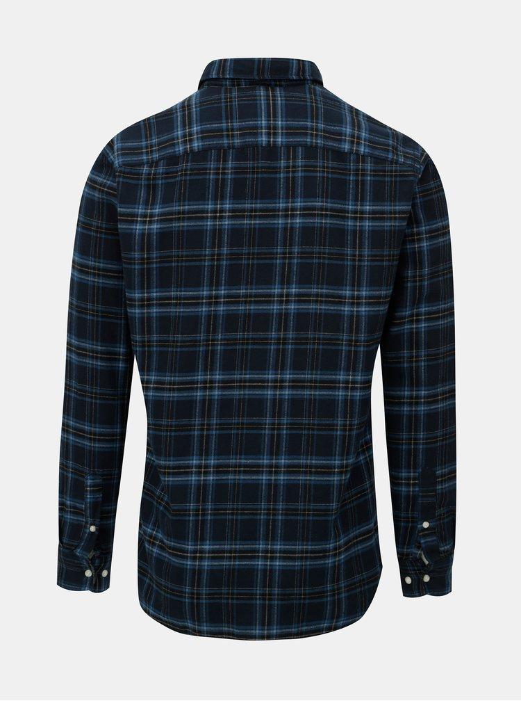 Černo-modrá kostkovaná košile Jack & Jones Carrick