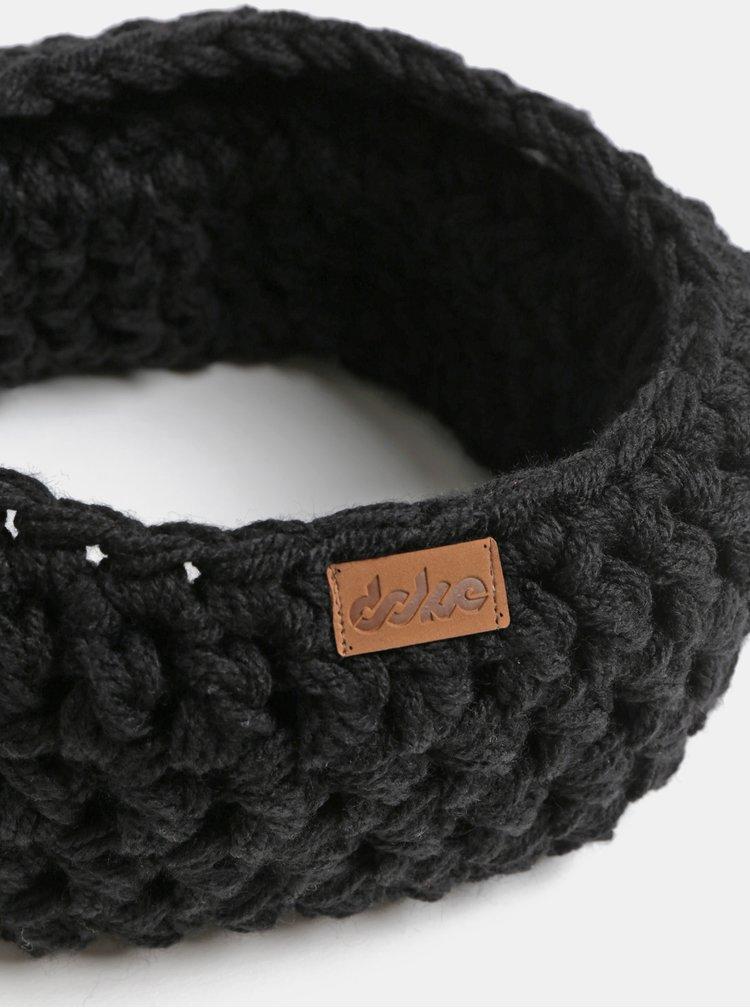 Černý pletený nákrčník DOKE