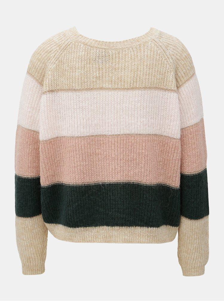 Růžovo-hnědý třpytivý svetr ONLY Malone