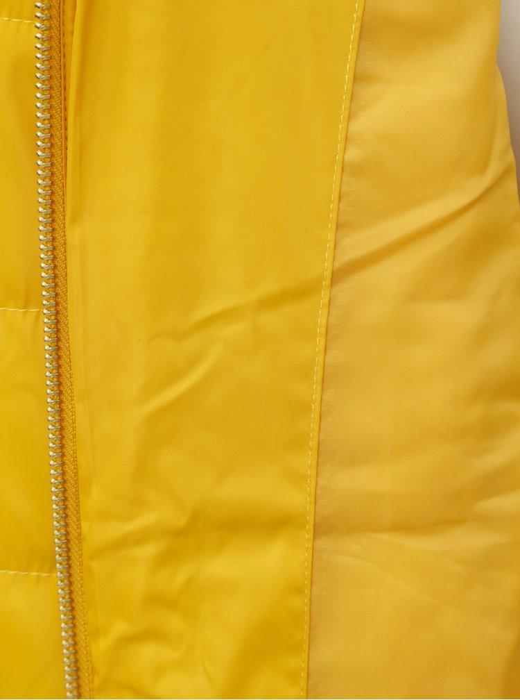 Jacheta de iarna galbena matlasata cu guler inalt Dorothy Perkins