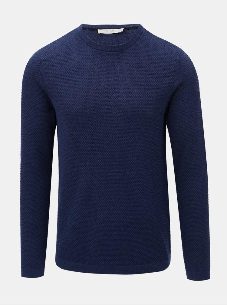 Modrý lehký basic svetr Jack & Jones Champ