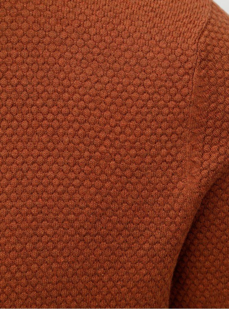 Hnědý lehký basic svetr Jack & Jones Champ