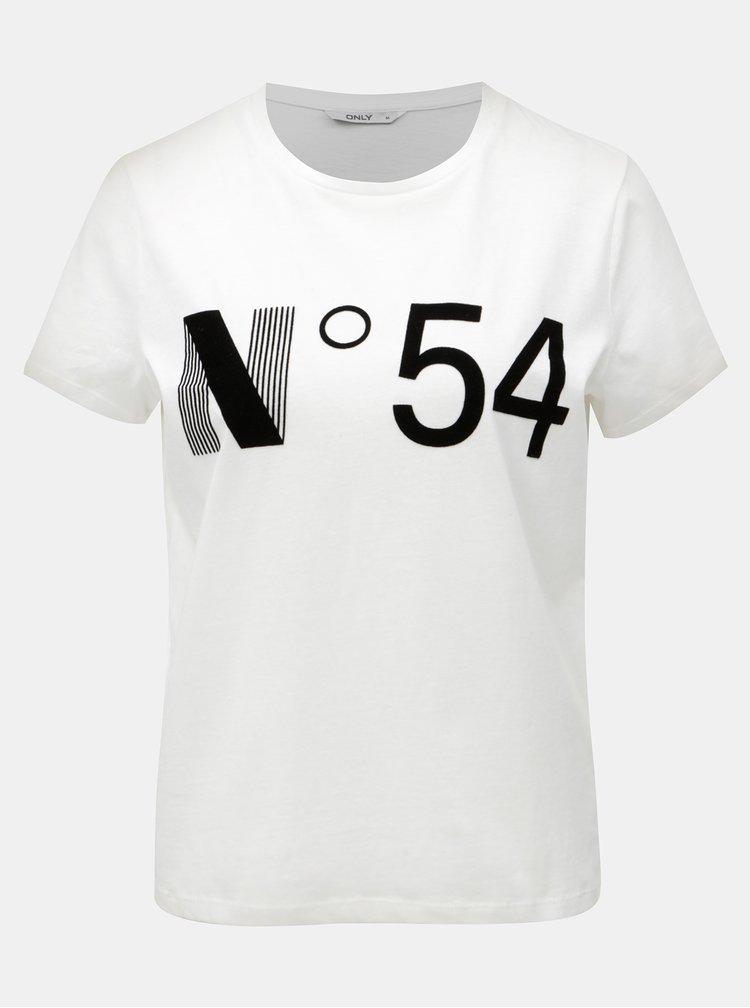 Bílé tričko s potiskem ONLY Magga