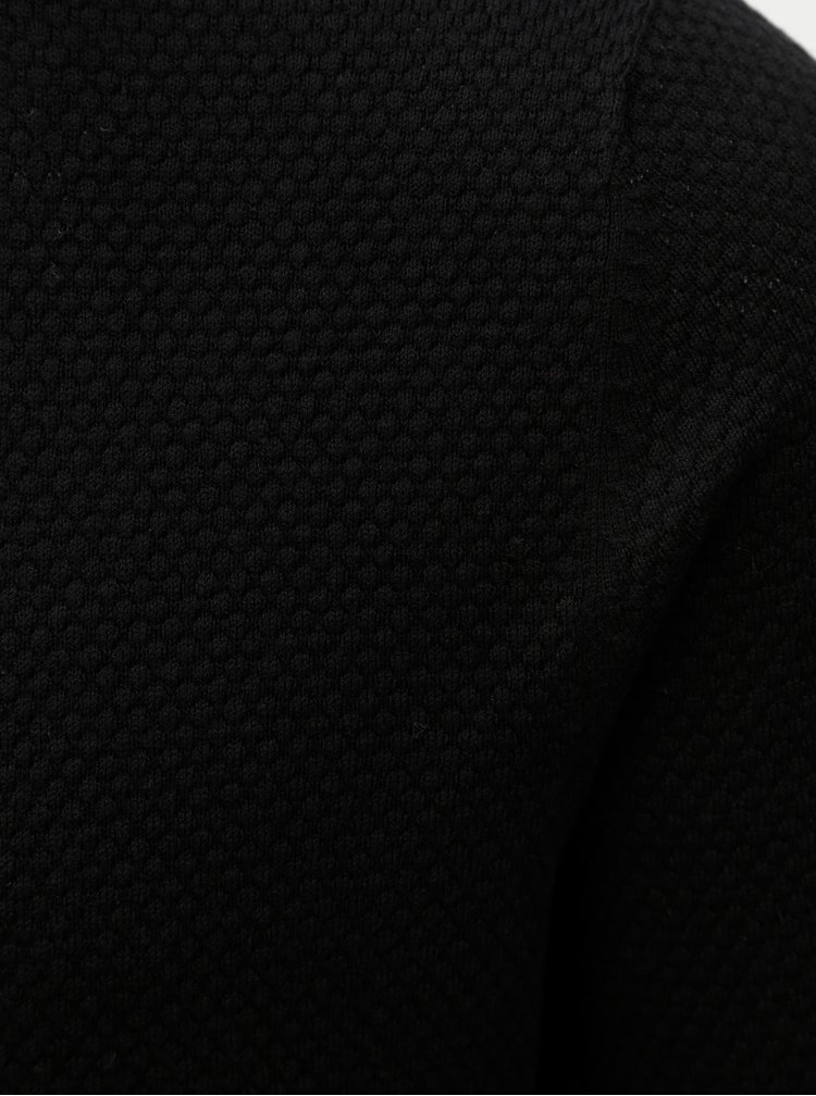 Pulover negru lejer Jack & Jones Champ