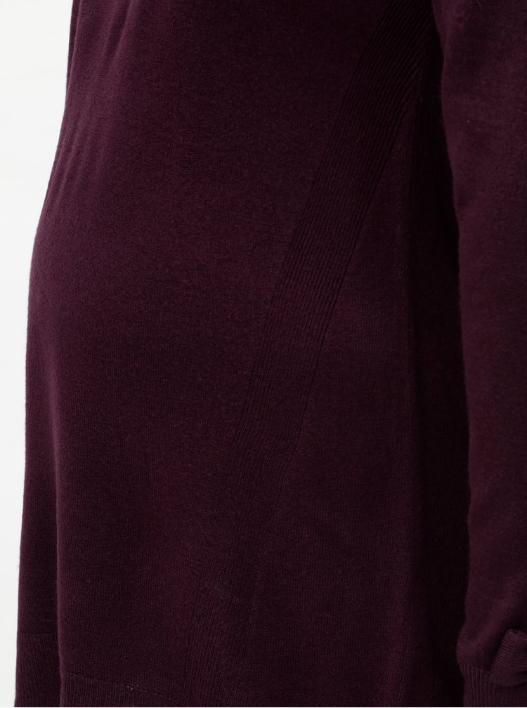 Fialový těhotenský svetr s rozparky a mašlemi na rukávech Dorothy Perkins Maternity