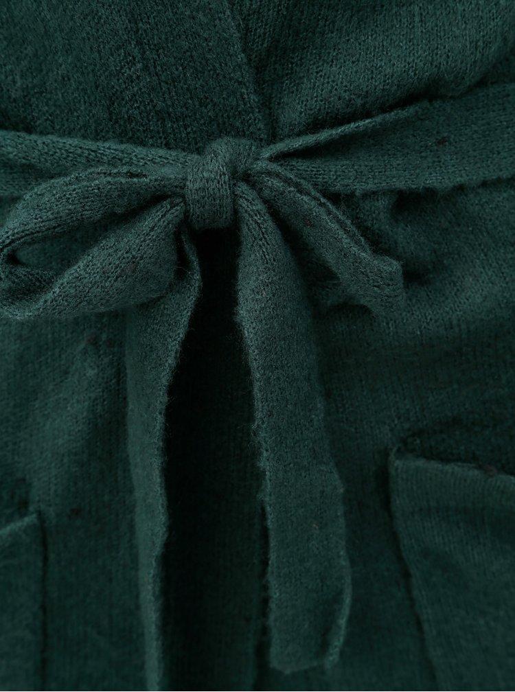 Zelený kardigan s páskem Jacqueline de Yong Danielle