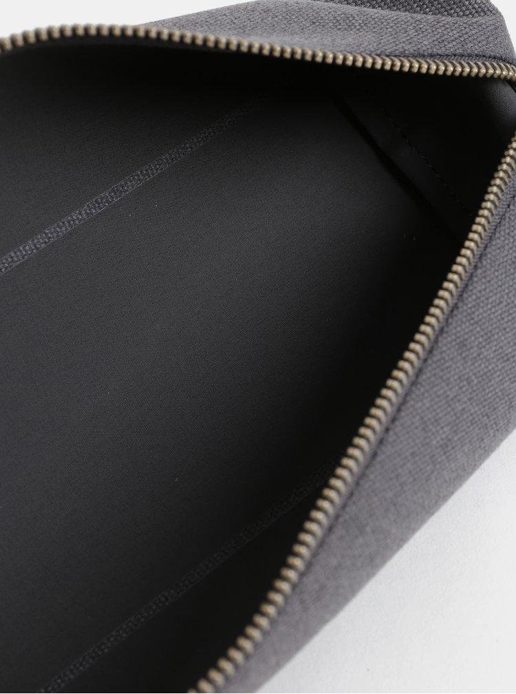Šedý penál s koženými detaily Bellroy