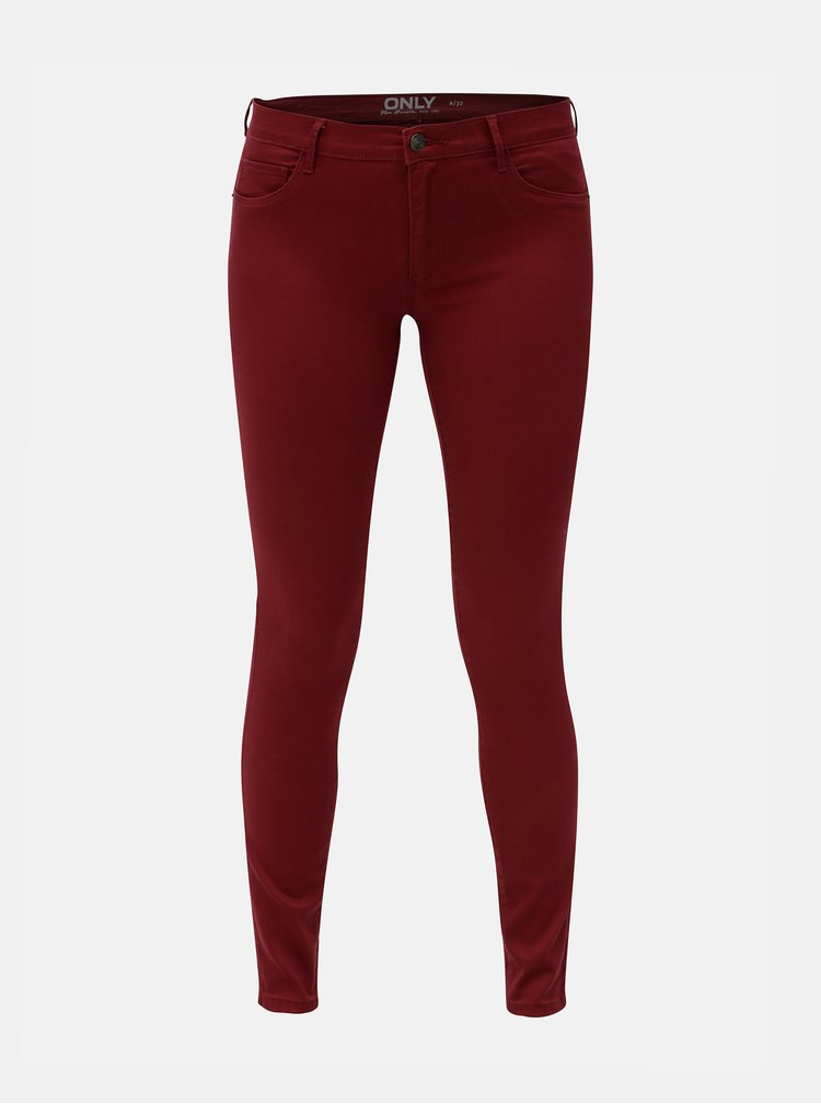 Blugi bordo skinny fit din denim ONLY