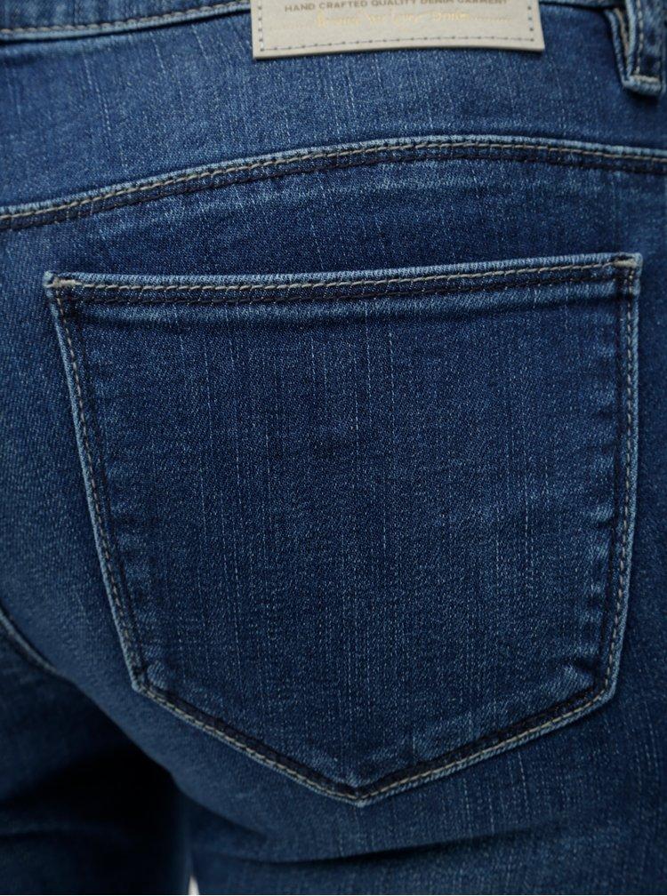 Modré vyšisované skinny fit džíny ONLY Coral