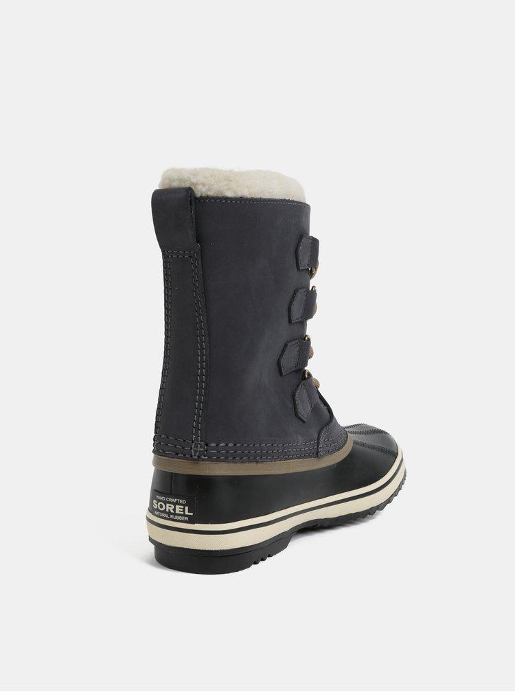 Tmavě šedé dámské semišové zimní voděodolné boty SOREL 1964 Pac 2