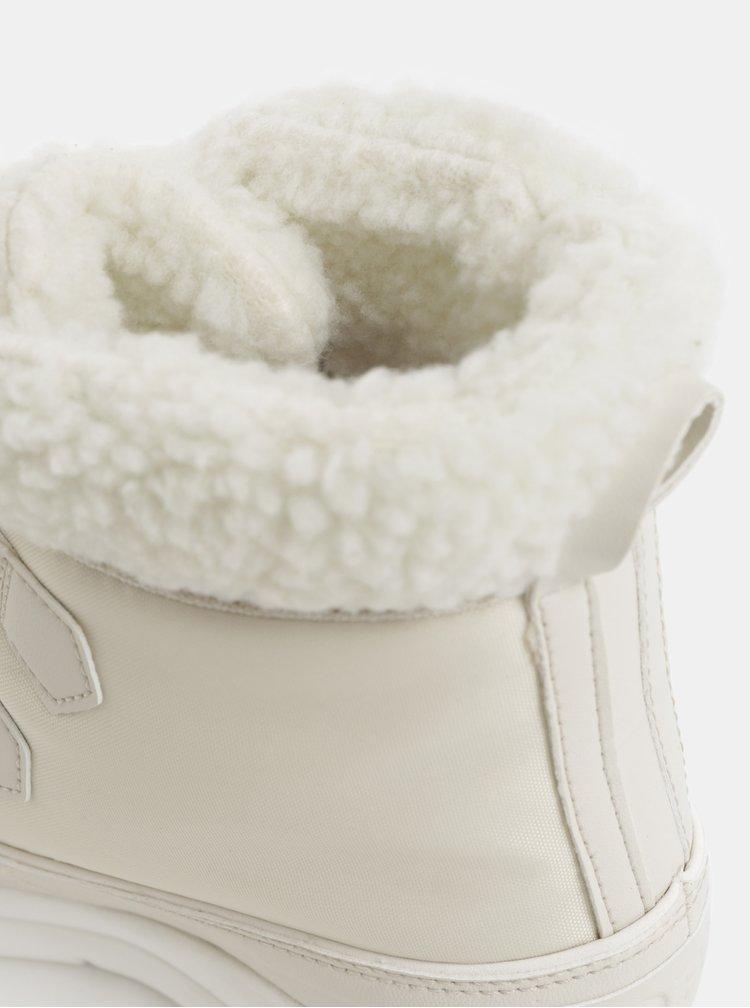 Krémové dámské voděodolné zimní boty SOREL Explorel Carnival