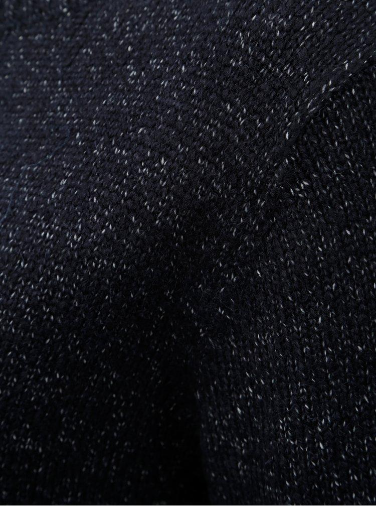 Tmavě modrý žíhaný svetr Ulla Popken