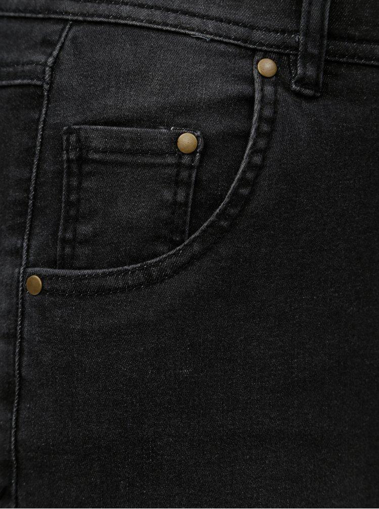 Šedé slim džíny s vysokým pasem Ulla Popken