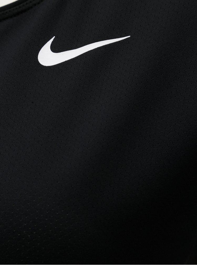 Čierne funkčné tričko s krátkym rukávom Nike