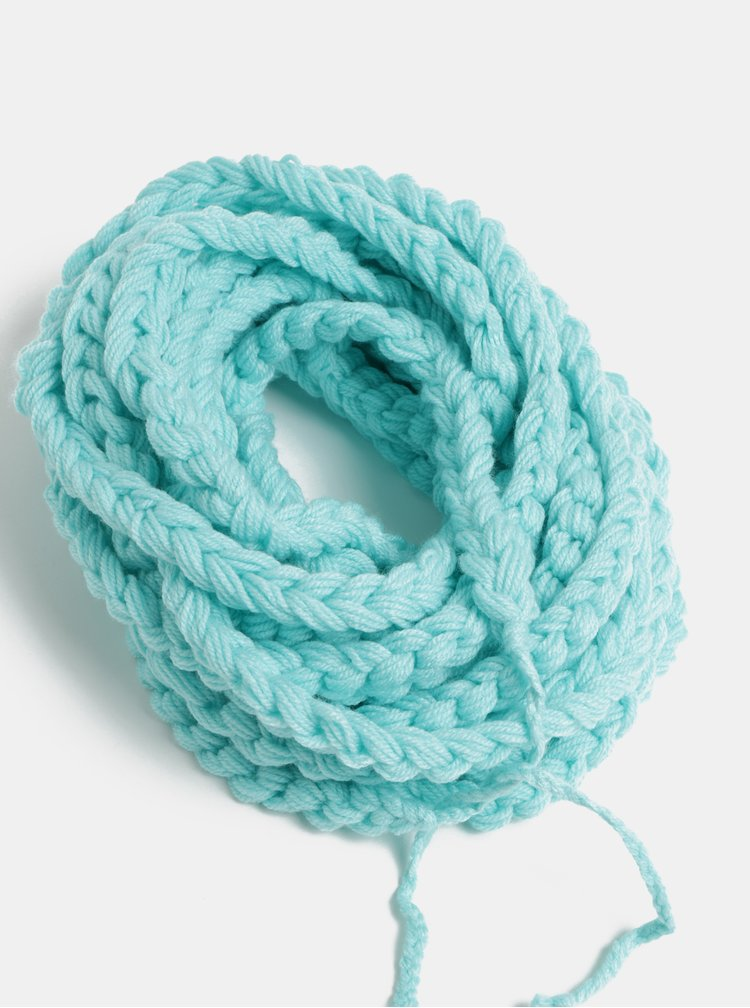 Tyrkysova dámská pletená šála DOKE