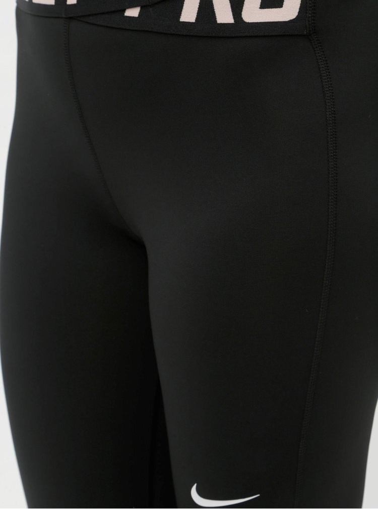 Černé dámské funkční legíny s pružnou gumou v pase Nike Intertwist