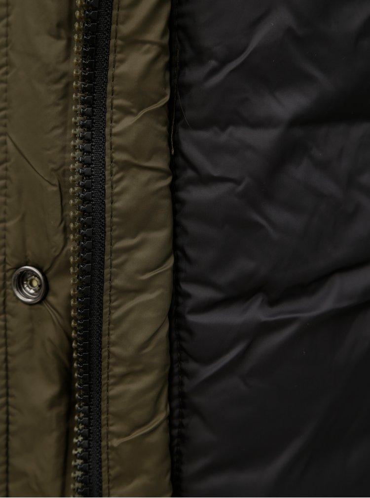 Khaki dámská prošívaná bunda Superdry
