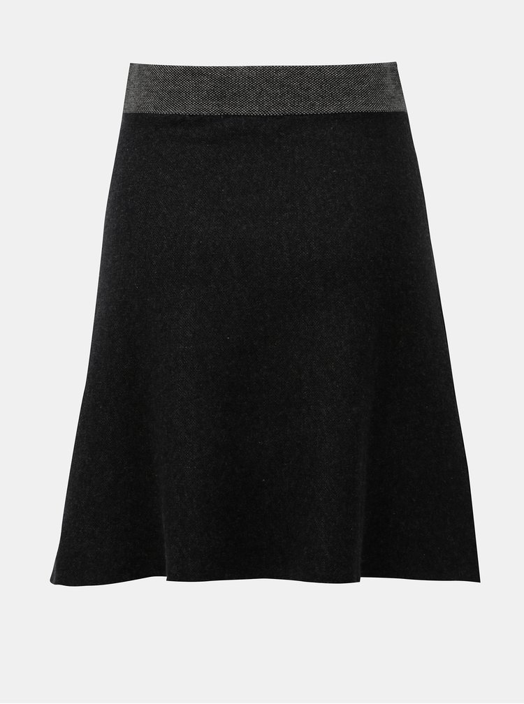 Černá úpletová krátká sukně SKFK Tirtsa
