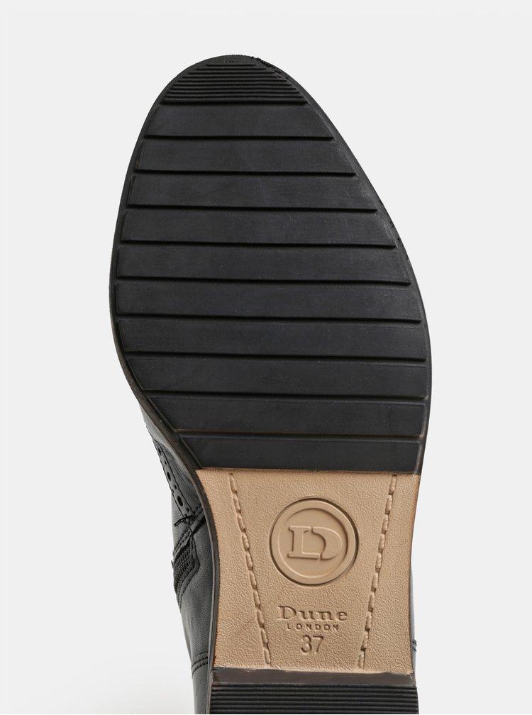 Cizme negre din piele cu detalii brogue Dune London