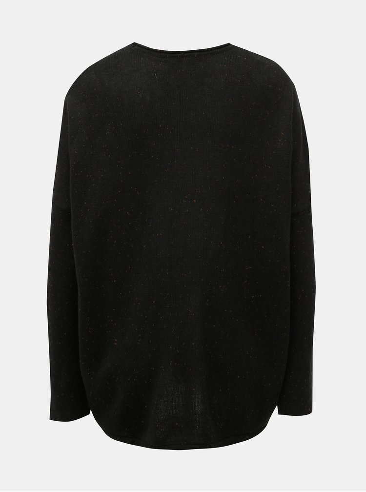 Pulover negru suprapus cu amestec de lana SKFK Gazeta