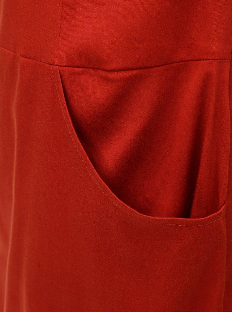 Červené šaty s kapsami SKFK Madge
