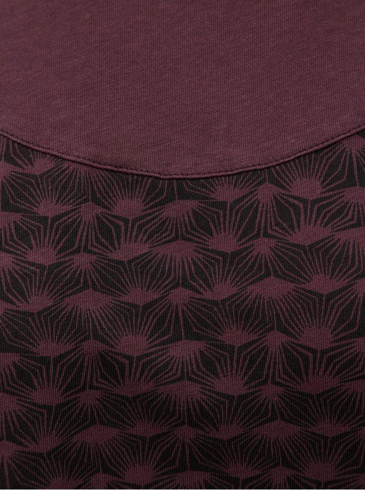 Vínové vzorované šaty na zavazování SKFK Terese