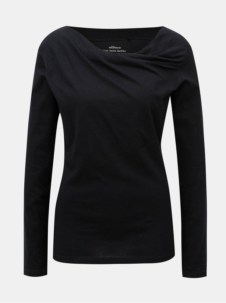 Černé tričko s dlouhým rukávem SKFK Bi
