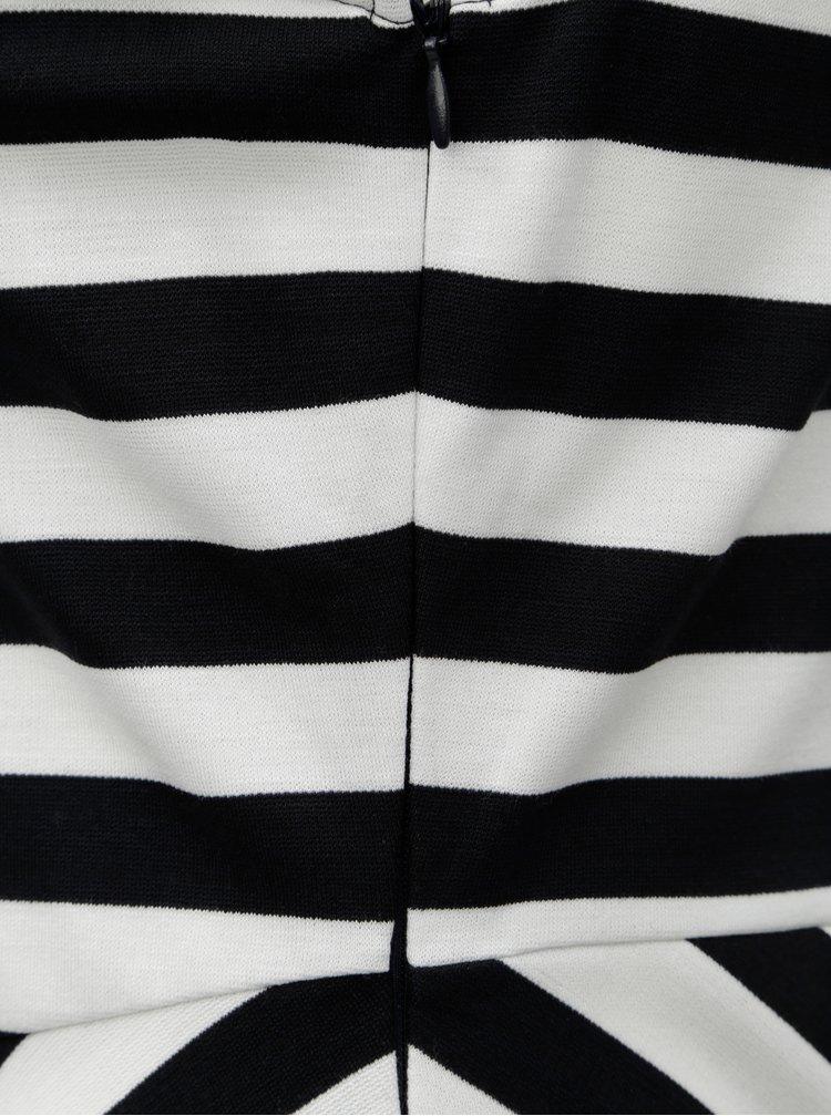 Černo-bílé pruhované šaty Tommy Hilfiger