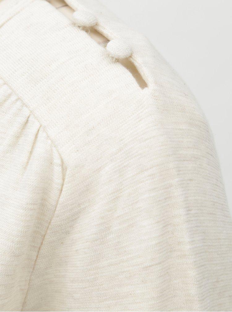 Béžové tričko s potiskem a knoflíky na ramenou  SKFK Gartzene