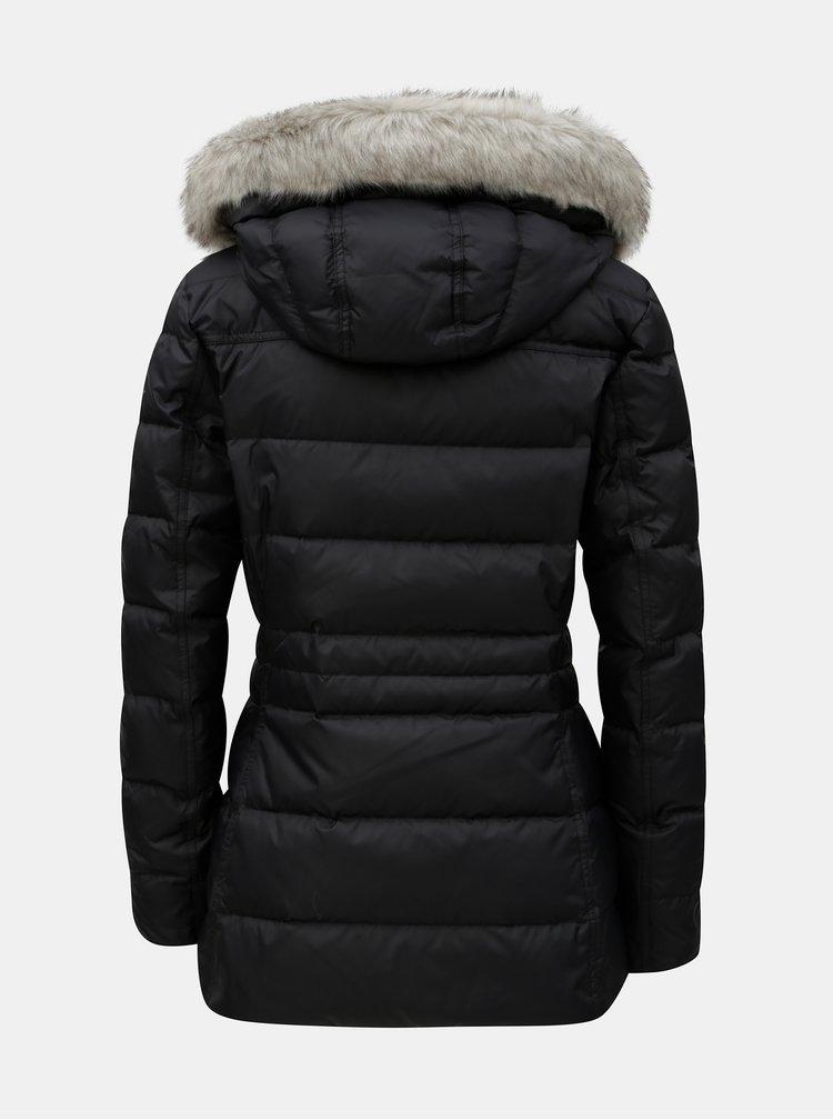Černá dámská péřová zimní prošívaná bunda Tommy Hilfiger