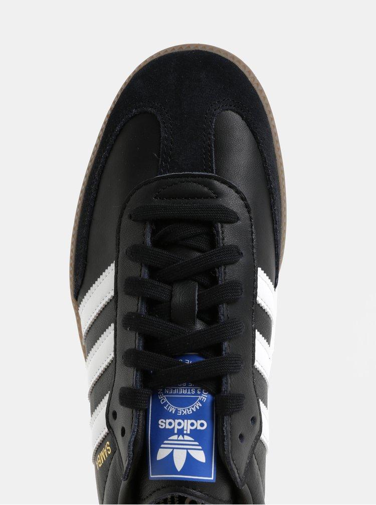 Černé pánské kožené tenisky adidas Originals Samba
