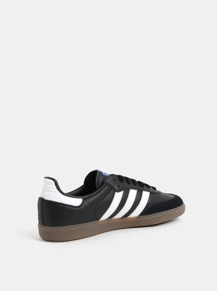 Čierne pánske kožené tenisky adidas Originals Samba