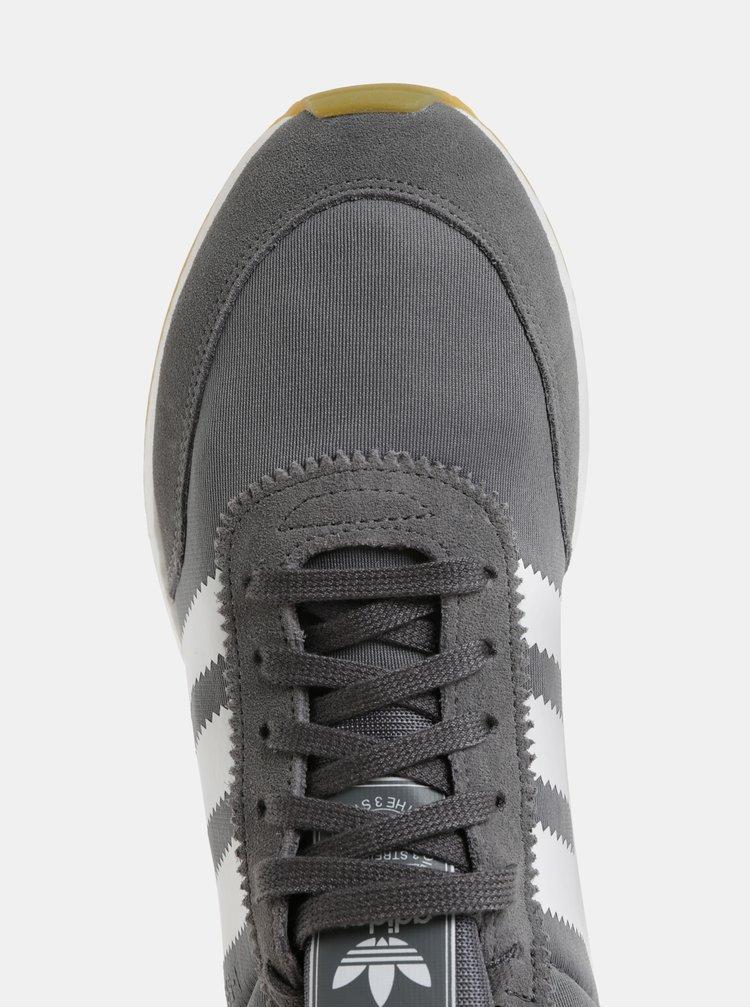 Šedé pánské tenisky se semišovými detaily adidas Originals I-5923