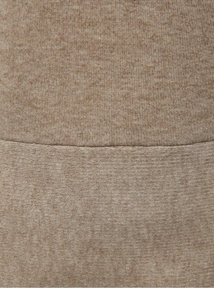 Rochie bej tricotata cu maneci lungi VILA Livnia