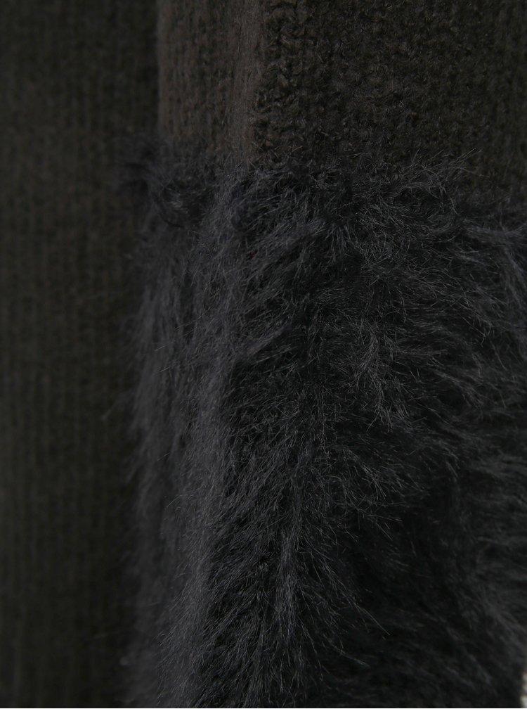 Čierny sveter s dlhými balónovými rukávmi VILA Samar