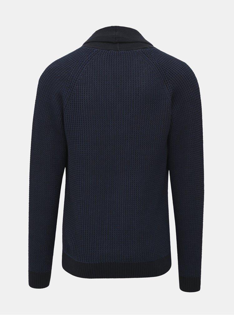 Cardigan albastru inchis cu nasturi Selected Homme