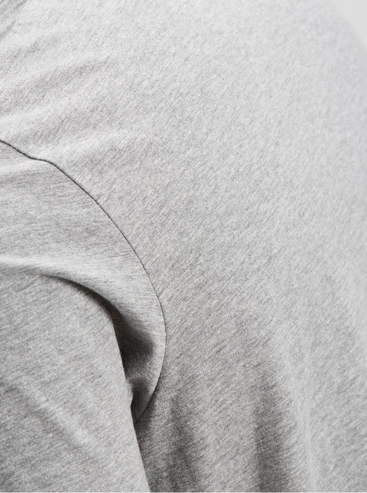 Tricou gri deschis cu imprimeu Jack & Jones Nasa