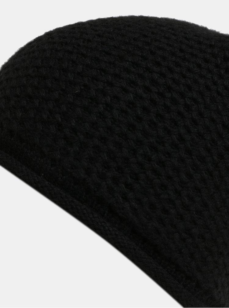 Černá pletená čepice Pieces Fahia Hood