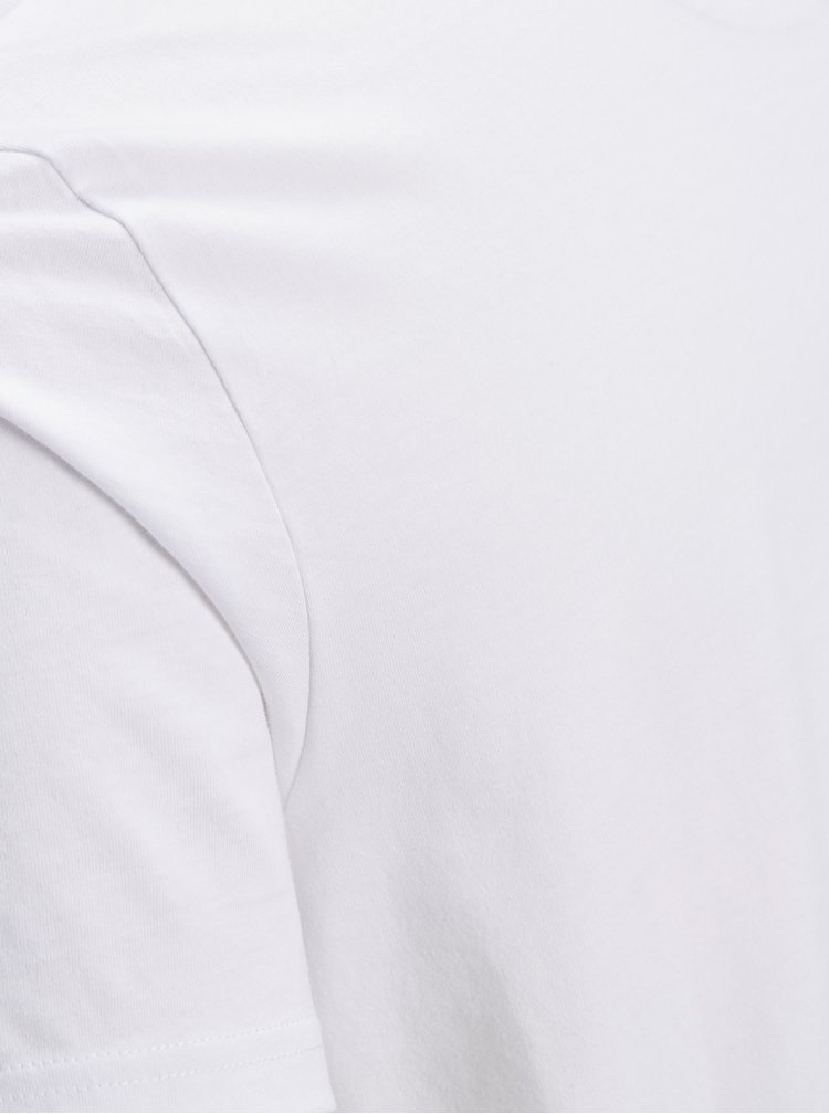 Bílé tričko s potiskem Jack & Jones Nasa