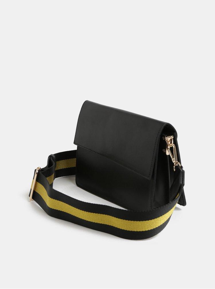 Černá crossbody kabelka s odnímatelným popruhem Pieces Faline
