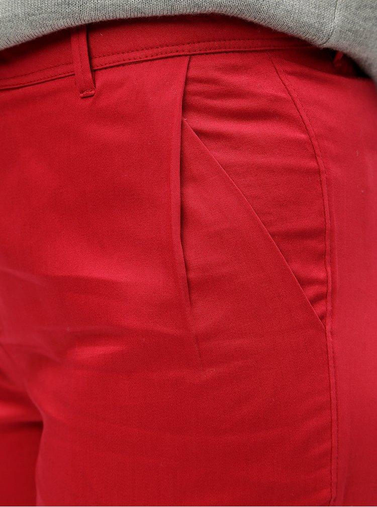 Červené chino kalhoty SKFK