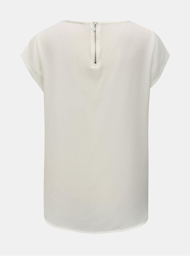 Bluza alba cu fermoar la spate ONLY Vic