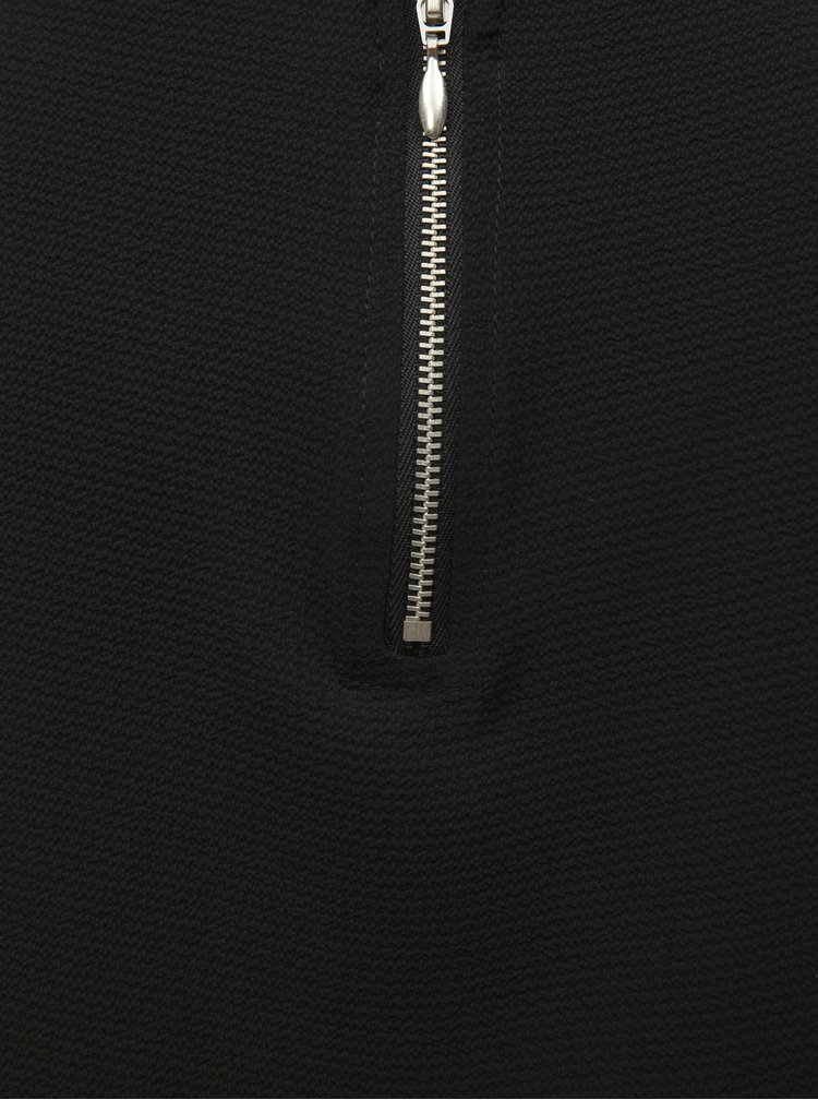 Černá halenka se zipem v zadní části ONLY Vic