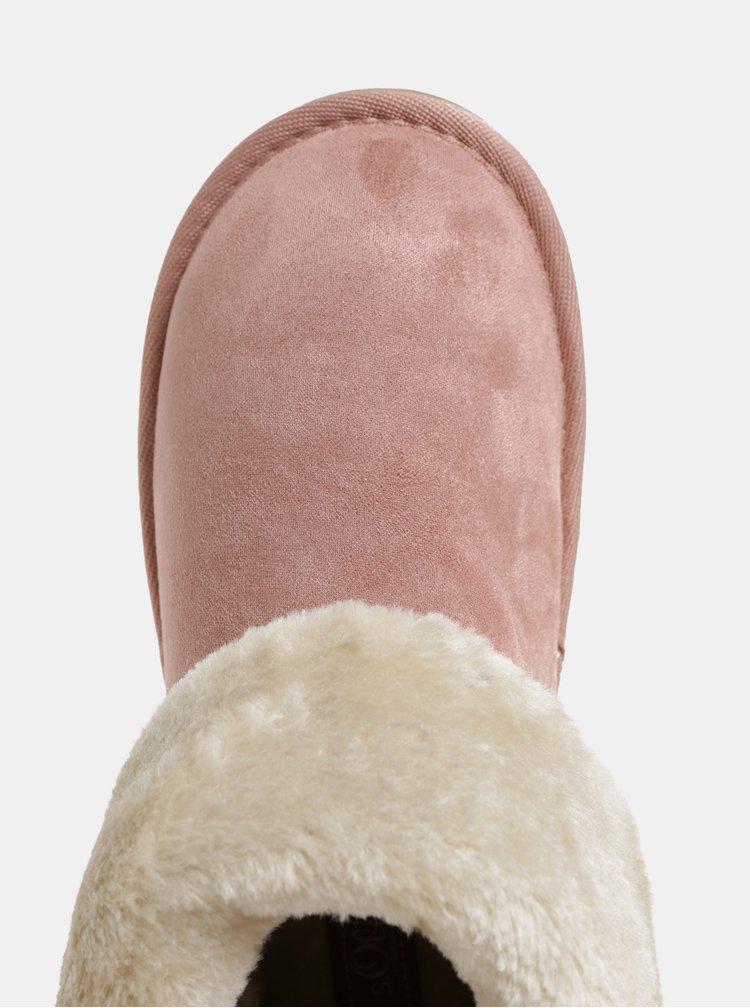 Ružové dámske zimné čižmy s.Oliver