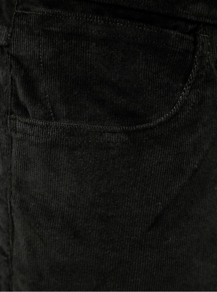 Pantaloni barbatesti negri din material reiat Wrangler Arizona