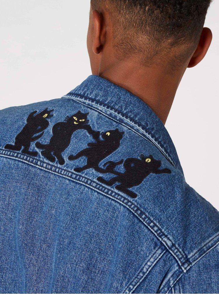Modrá unisex džínová bunda Kings of Indigo