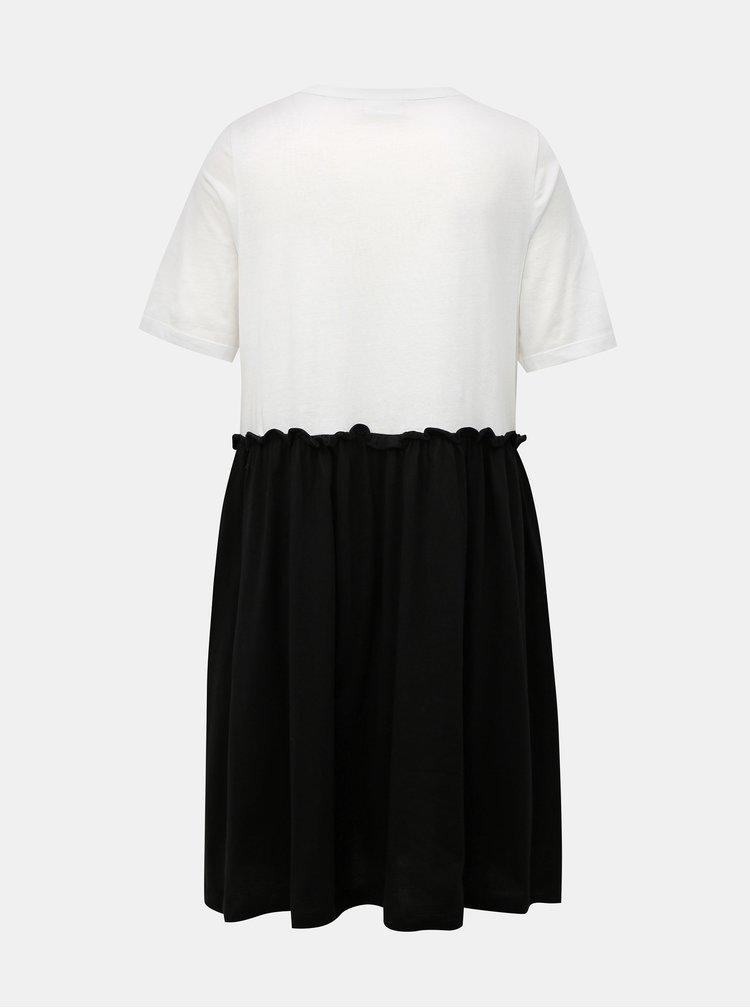 Bílo-černé šaty Noisy May Bon Marche