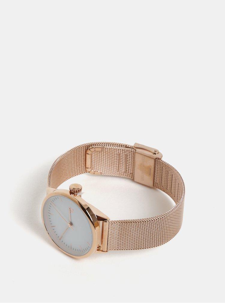 Ceas de dama cu curea roz-auriu metalica CHPO Nando Mini Rose