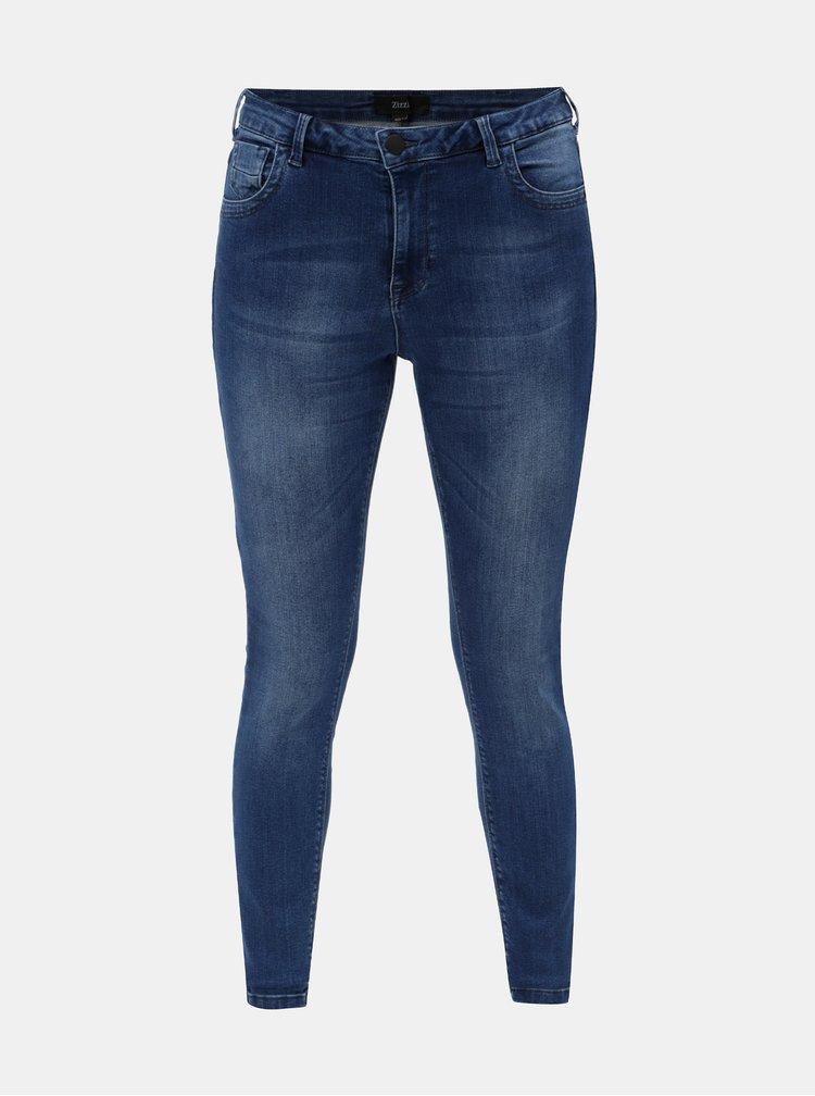Modré super slim džíny Zizzi