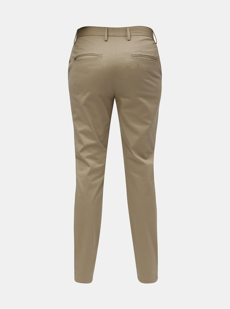 Béžové pánské kalhoty Burton Menswear London